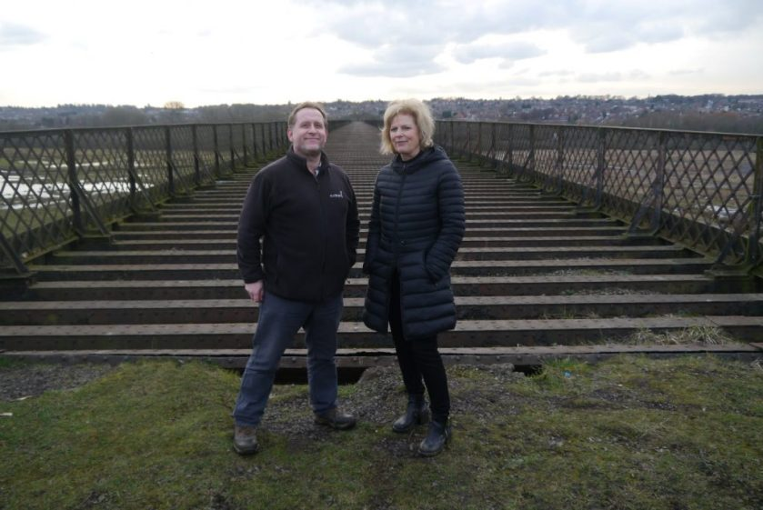 Anna Soubry MP pictured with Sustrans director Matt Easter.
