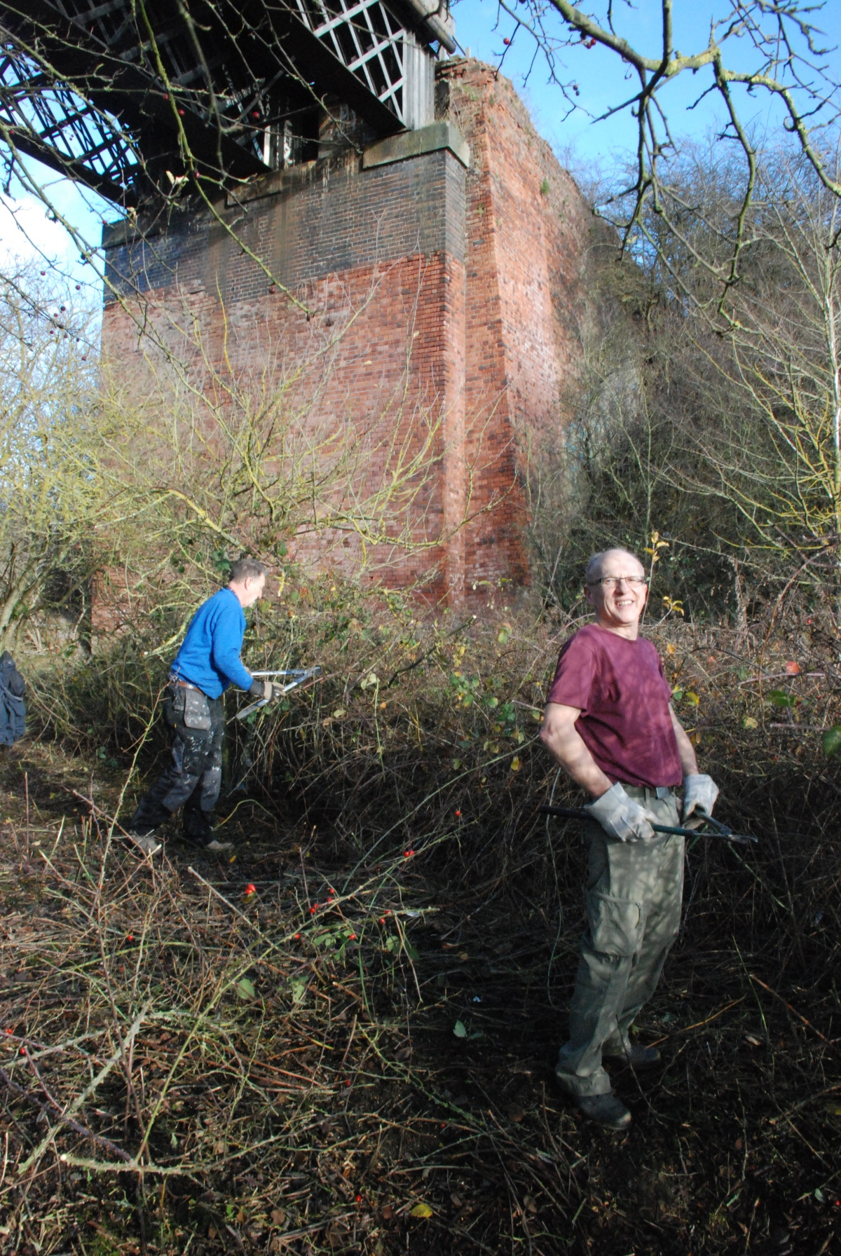 Bennerley Viaduct Volunteer Workdays.   Next Workday, Saturday January 26th